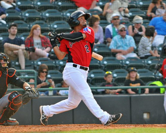 Eduard Pinto showed an improving eye at the plate in 2015 with just 21 Ks and 34 walks. (Tracy Proffitt)