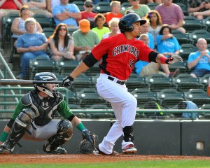 Tendler was named the Rangers minor league player of the month for April 2015 (photo courtesy of Tracy Proffitt)