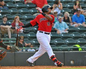 Rock Shoulders joined the Crawdads mid-May (photo by Tracy Proffitt)