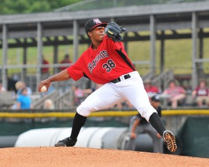 Dillon Tate pitched one perfect inning with one strikeout in his debut.