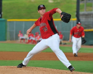 2012 Crawdads pitcher Jerad Eickhoff will make his major league debut on Friday, August 21 for Philadelphia at Miami (photo courtesy of Tracy Proffitt)