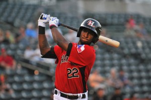 Jurickson Profar played his first game in two seasons wihen he suited up for Hickory on Thursday (photo courtesy of Tracy Proffitt)