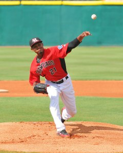 LHP Yohander Mendez has 64 Ks and 1.53 ERA through 53 innings this season (Photo courtesy of Tracy Proffitt)