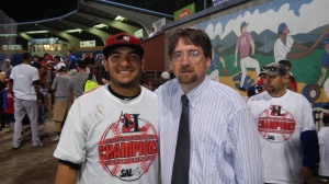 Jose Trevino (L) and Mark Parker (photo by Mark Parker)