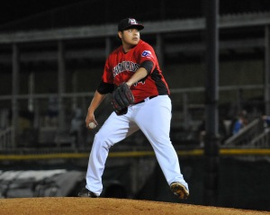 From a playoff appearance vs. West Virginia on 9/12, Ortiz struck out four of the six batters he faced (photo courtesy of Tracy Proffitt)
