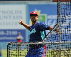 Oscar Marin and six of his pitchers were named to the SAL team in June (photo courtesy of Tracy Proffitt)