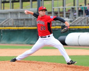 Scott Williams has taken hold of late-inning situations for the Crawdads with nine saves in the second half. (Photo courtesy of Tracy Proffitt)