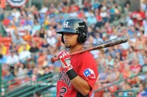 Rougned Odor showed pop at the plate with 10 homers and 23 doubled in 109 games (photo courtesy of Tracy Proffitt)