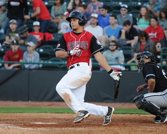 Tyler Sanchez hitting