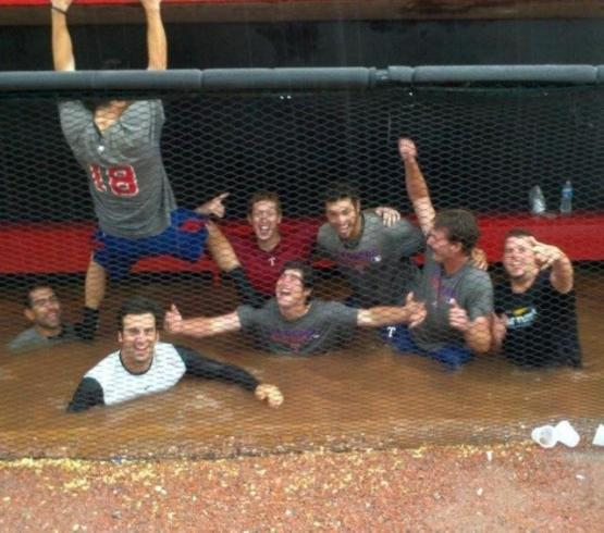 Crawdads bullpen flood